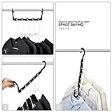 HOUSE DAY Black Magic Hangers Space Saving Clothes