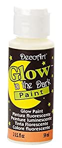 DecoArt DS50-3 Glow-in-the-Dark Paint, 2-Ounce