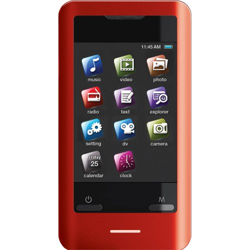 Coby MP828-8GRED 8 GB 2.8-Inch Video MP3 Player with FM Radio (Red) (Discontinued by manufacturer)