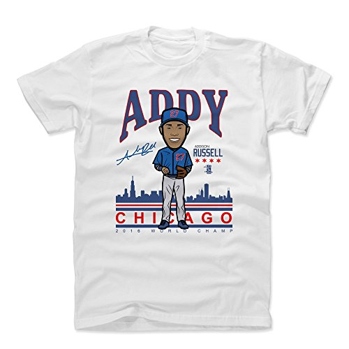 500 LEVEL Addison Russell Cotton Shirt X-Large White - Chicago Baseball Men's Apparel - Addison Russell Addy BR