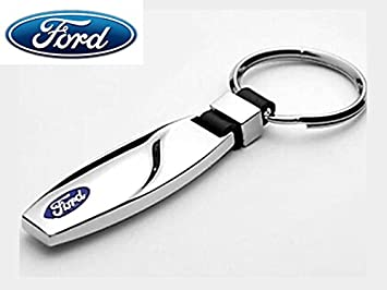 Automobilia Ford Logo Leather Keyring Xmas Gift Idea