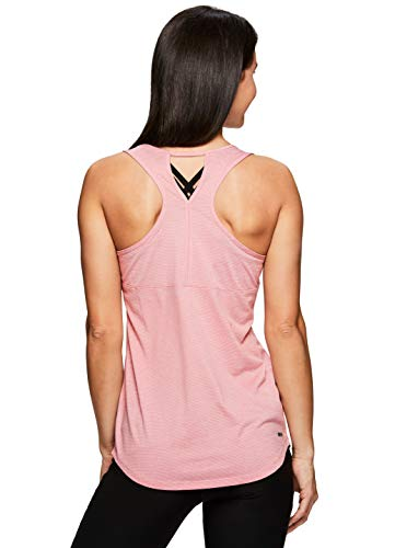 RBX Active Women's Textured Running Workout Yoga Tank Top S19 Pink L