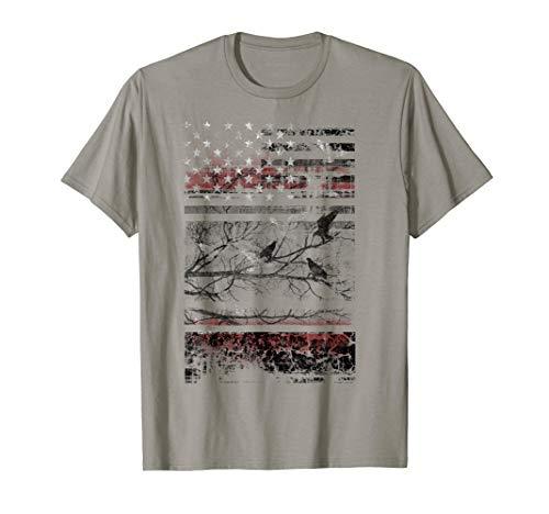 USA Blackout Crowing Stars & Stripes Tonal Graphic T-Shirt