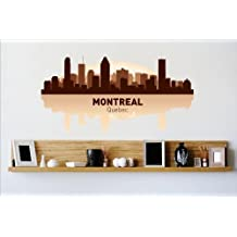 Design with Vinyl – CA Cryst 461-485 As Seen Decor Item Montreal Canada Quebec Ca Skyline City View Beautiful Scene Landmarks, Buildings and Water, 12-Inchx24-Inch