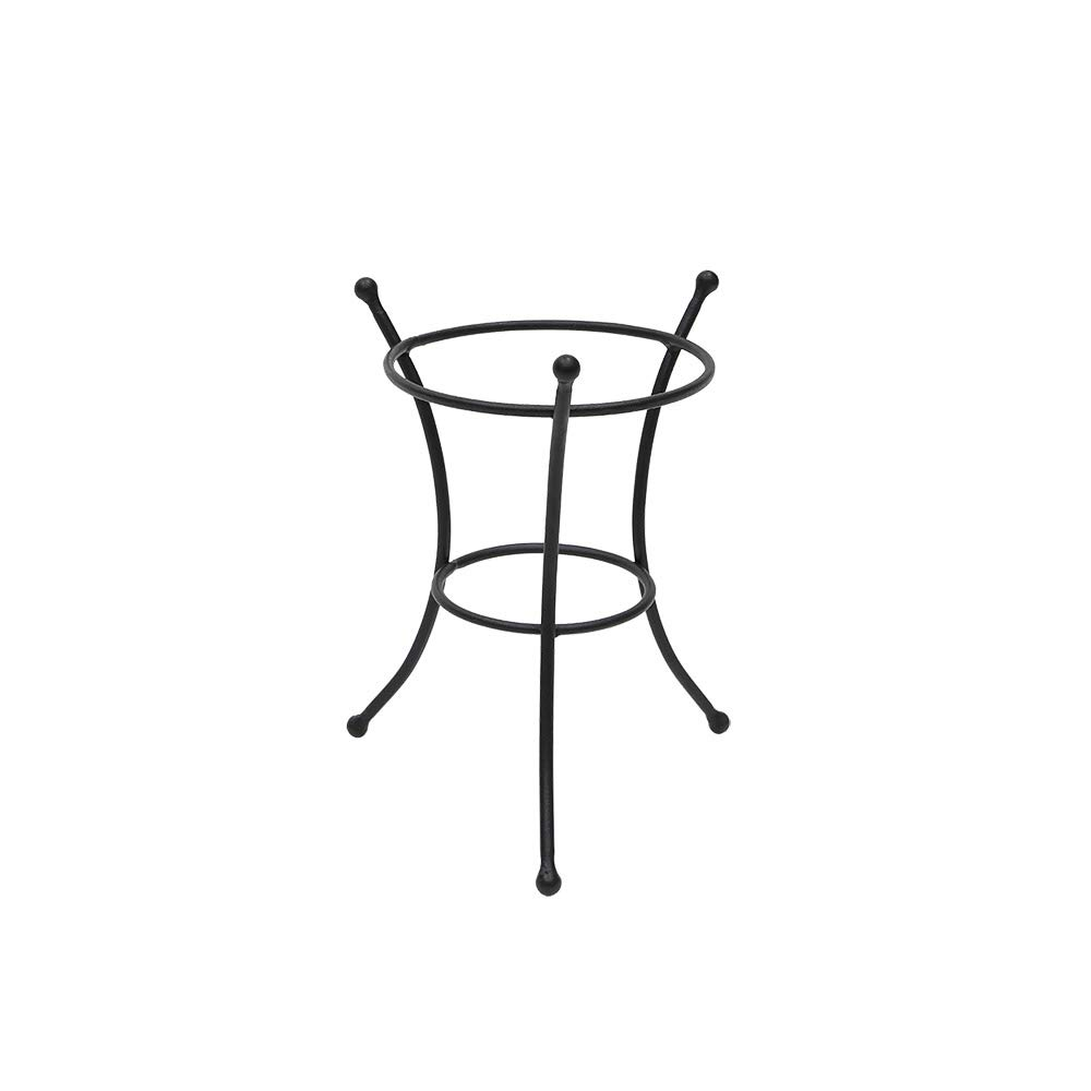 "Achla Designs GBS-20 Multi-Use, Small Wrought Iron Metal Plant birdbath Bowl Stand Flowerpot Holder, 8"" Black"