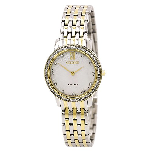 (Citizen Watches Women's EX1484-57D Eco-Drive Two-Tone Watch)