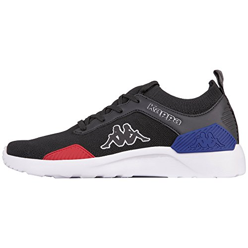 Kappa Flair, Baskets Mixte Adulte Noir (1120 Black/Red 1120 Black/Red)