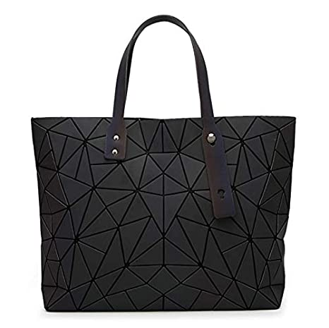 Amazon.com: Geometry Bolsos luminosos de piel para mujer ...
