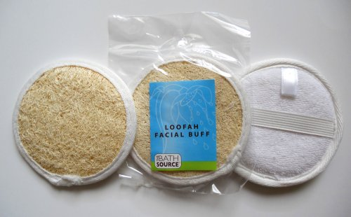 For The Face Buff (Loofah / Terry Facial Face Complexion Buff Exfoliating Pad (Multi pack) (Free Shipping) (3 pack))