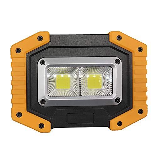 LED Arbeitsstrahler, Tragbares Flutlicht LED Baustrahler COB Außenbeleuchtung Flutlicht Hochhelle Projektionslampe…