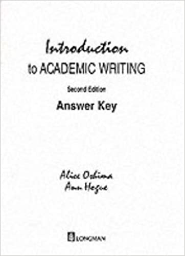 Introduction to academic writing answer key alice oshima introduction to academic writing answer key alice oshima 9780201316964 amazon books fandeluxe Gallery