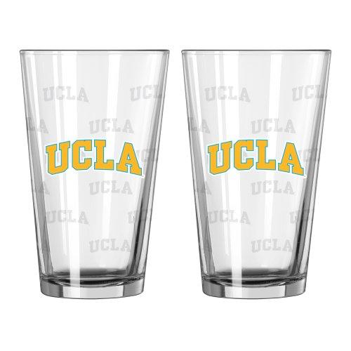NCAA UCLA Bruins Satin Etch Pint, 16-ounce, 2-Pack