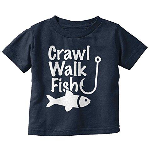 Brisco Brands Crawl Walk Fish Funny Fishing Routine Humor Toddler Infant T