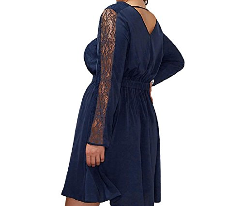 Lace Comfy Solid Dress Trim Size Women Cocktail Embroidery Plus Pattern1 Skinny RRxpwtFq