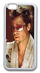 Case Cover For HTC One M7 and Cover Fight Club Brad Pitt Hard Silicone PC Case Cover For HTC One M7 White
