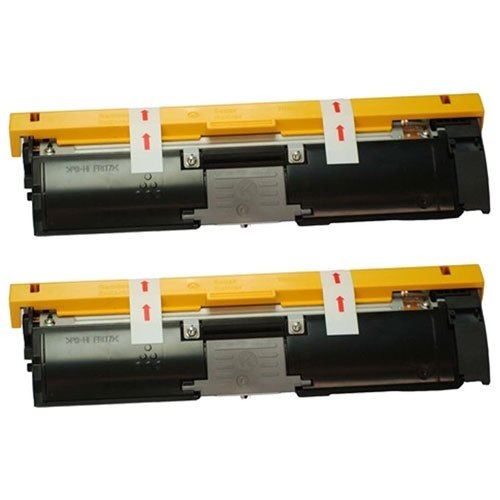 Image of Amsahr 1710587-004 Minolta 1710587-004 Remanufactured Replacement Toner Cartridge with Two Black Cartridges Laser Printer Drums & Toner