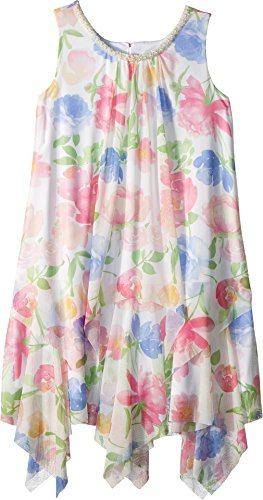 Floral Print Trapeze - US Angels Girl's Chiffon Floral Print Trapeze Dress (Big Kids) Multi 8
