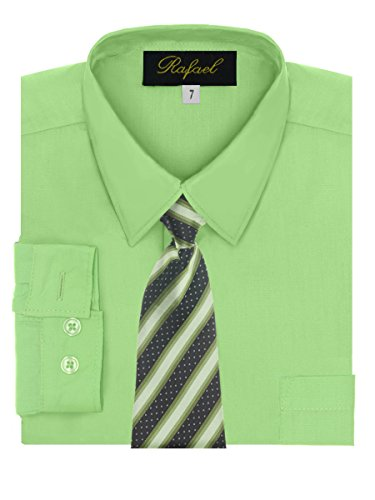 Boy's Dress Shirt & Tie - Lime, ()