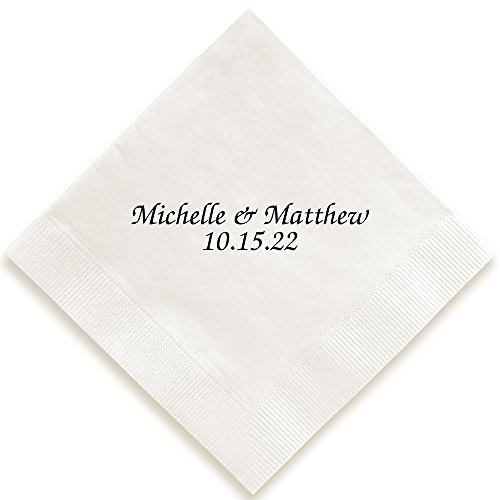 Personalized Chesterfield Napkin - Foil-Pressed (White)]()