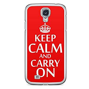 Keep Calm and Carry On Samsung Galaxy S4 Transparent Edge Case