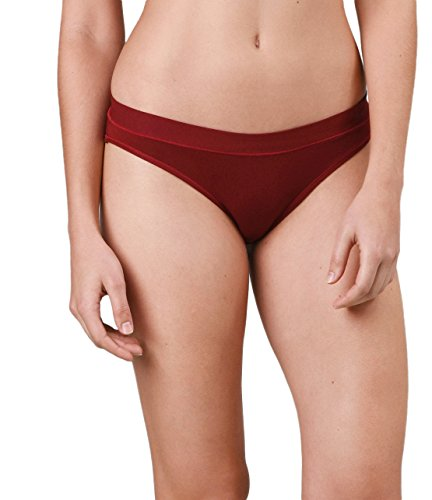 Naked Womens Luxury Soft Modal Brief Modern Underwear Bottoms for Ladies - Jungle Red, - Women Retro Naked