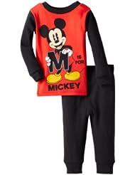 (历史最低)迪斯尼米奇全棉儿童套装Mickey Mouse Baby-Boys Infant Mickey Pajama $6.38