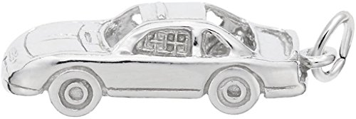 Rembrandt Stock Car Charm - Metal - 14K White Gold