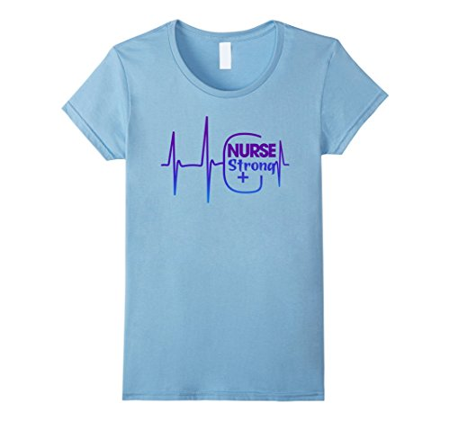 Strong Female Halloween Costumes (Womens Nurse Strong Costume Halloween T-Shirt Small Baby Blue)