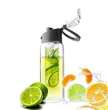 ORDEL® Botella de agua infusora zumo de frutas vitaminas 800ml - BPA FREE (Negro): Amazon.es: Deportes y aire libre