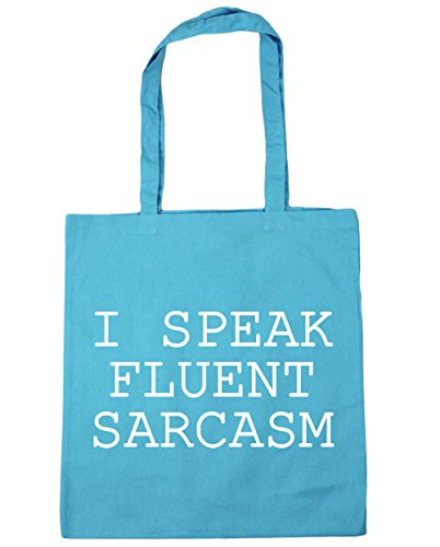 Beach Gym Bag Tote I 42cm Surf litres Shopping Speak HippoWarehouse 10 Sarcasm Blue Fluent x38cm 48WYH40Fq