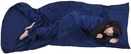Browint Premium Sleeping Bag Liner with All Around Two-Way Zippers, 87 x41 Extra Wide Sleeping Sack for Hotel, Breathable Lightweight Travel Sheet, Multifunctional Bed Sheet for Camping, All Seasons