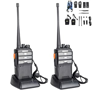 2 Pack BAOFENG BF-888s Upgraded Two Way Radio BF-230 Pro Handheld Walkie Talkie Transiver 3.7v/1500mAh/400-470MHz US Plug Headphone With Rechargeable Battery