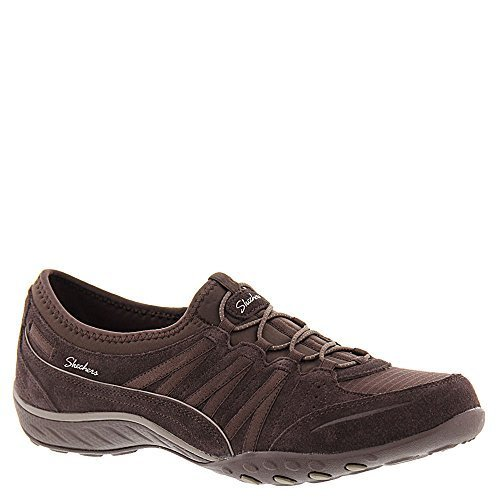 Skechers Womens Relaxed Fit: Breathe Easy - Moneybags Sneaker Chocolate Size 5