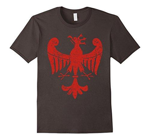 Mens Vintage Polish Eagle Coat of Arms Poland Shirt XL Asphalt (Poland Coat)