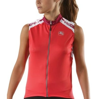 Giordana 2008 Women's Silverline Sleeveless Cycling Jersey - Coral - GI-WSLV-SILV-CORA -