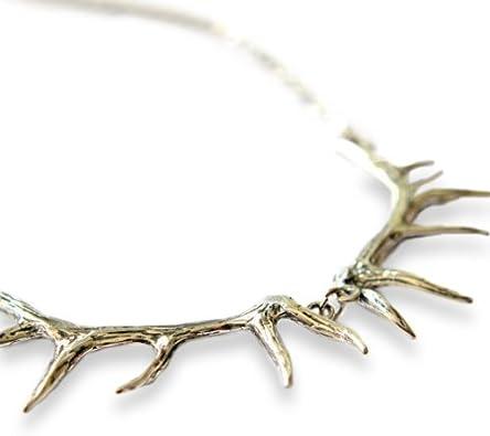 SENFAI Santa Elk Antlers Antique Bronze Antlers Necklace