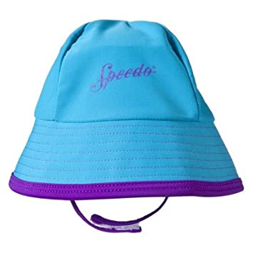 637ba724ce3 Speedo Uv Bucket Hat in Turquoise and Purple Kids One Size Fits All  Amazon. co.uk  Sports   Outdoors