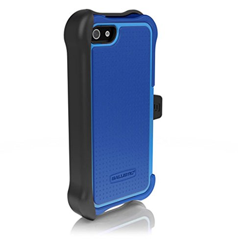 Ballistic Maxx Case w/ Holster and Screen Protector for Apple iPhone 5/5S/SE - Retail Packaging - Blue