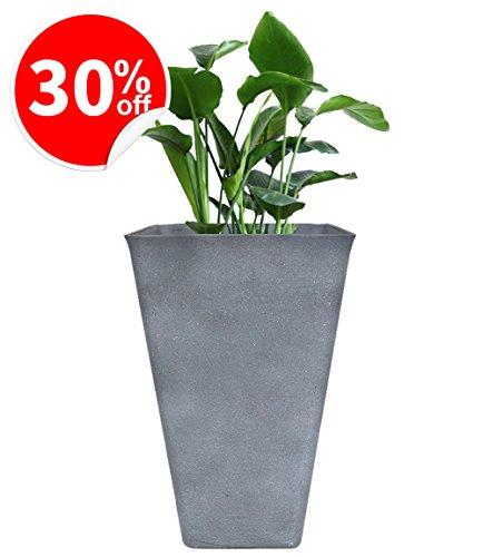 Gray Resin (Tall Planter 26