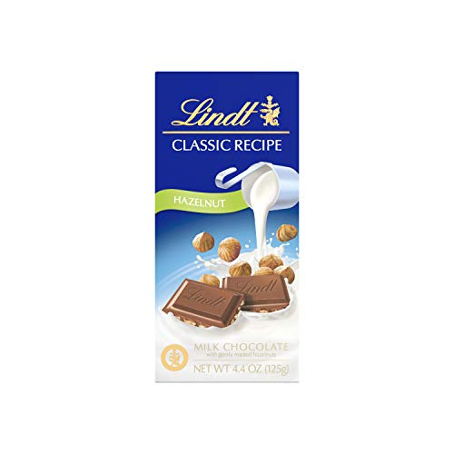 Lindt Classic Recipe Milk Chocolate Bar, Hazelnut, 4.4 Ounce (Pack of 12), Packaging May Vary