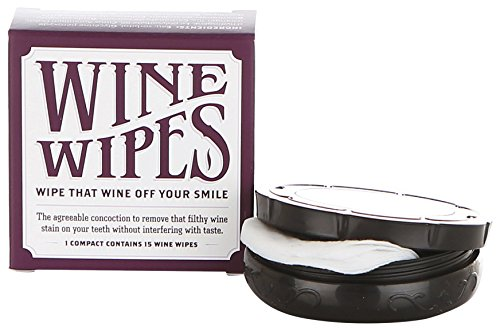 (Wine Wipes - 1 Boxes of 15 Individual Wipes)