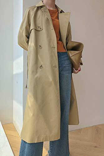 L Femme Long Nouveau Manteau Kaki en Long DFSXCZ Coupe Overknee Vent Automne Long Printemps Vrac f1x7TEqw
