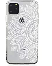 Clear Case for iPhone 11 with Screen Protector,QFFUN Ultra Thin Slim Fit Soft Transparent Silicone Phone Case Crystal TPU Bumper Shell Scratch Resistant Protective Cover - Sunflower