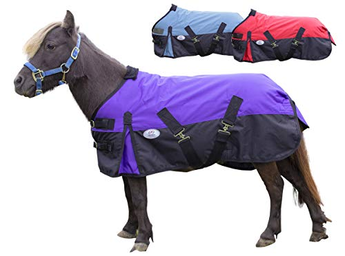 (Derby Originals 600D Ripstop Nylon Waterproof Medium Weight Winter Mini Horse and Pony Turnout Blanket - 200g Polyfil)