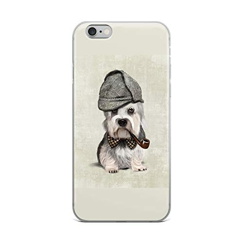iPhone 6 Plus/6s Plus Case Anti-Scratch Creature Animal Transparent Cases Cover of Elegant Dandie Dinmont Terrier A Small SCO Animals Fauna Crystal Clear