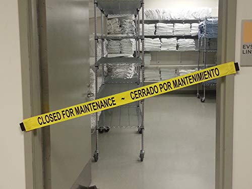 Bilingual Closed for Maintenance Sign with Magnetic Ends |