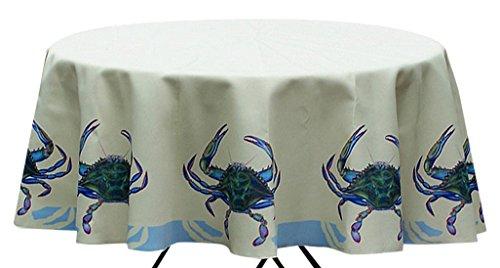"Betsy Drake TR004G Blue Crab Table Cloth 68"" from Betsy Drake"