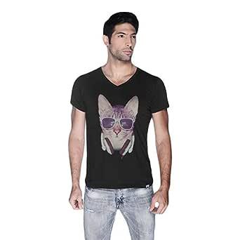 Cero Cool Cat Retro T-Shirt For Men - Xl, Black