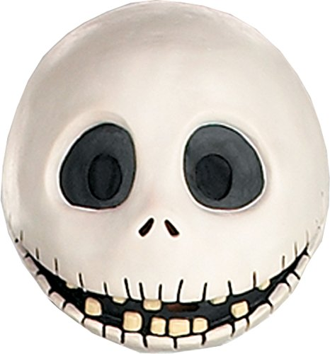 (Jack Skellington Nightmare Before Christmas Latex Adult Halloween Costume Mask)