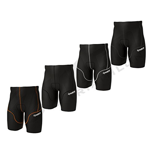 (Zimco Elite Men Compression Triathlon Shorts Racing Tri Short Swim Run Tri (Black, XL))